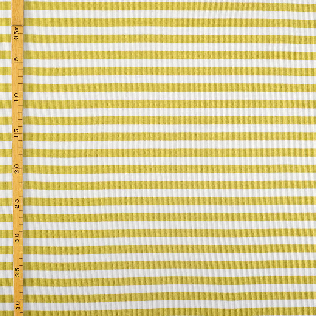 2 x 1 Stripe Rib, Yellow - Vanilla